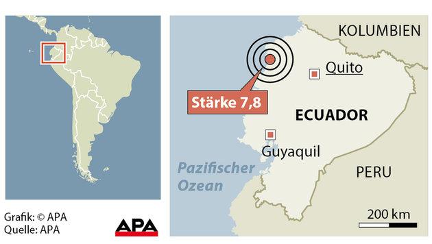 Ecuador: Mindestens 350 Tote nach Erdbeben (Bild: APA)