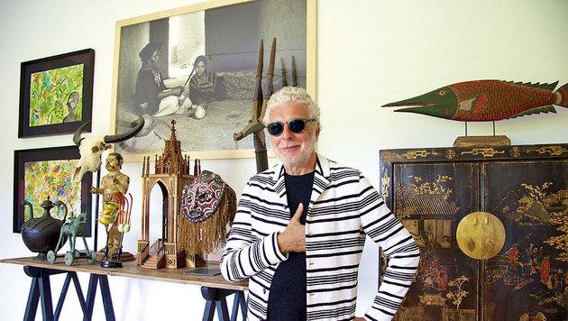 André Heller in seinem Privathaus in Marrakesch (Bild: Tina Konsel)