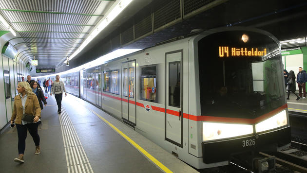 Ab Montag fährt die U4 wieder auf gesamter Strecke (Bild: Peter Tomschi)