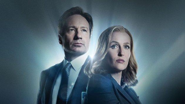 "David Duchovny und Gillian Anderson in ""Akte X"" (Bild: Fox Television)"