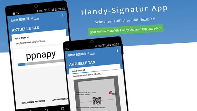 Handy-Signatur ab sofort auch als App nutzbar (Bild: handy-signatur.at, krone.at-Grafik)