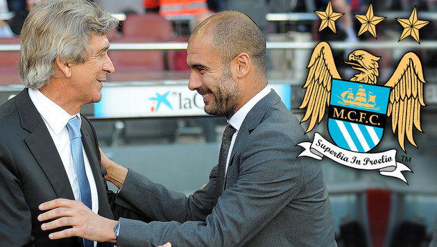 Pellegrini: Guardiola kostete ManCity Meistertitel (Bild: APA/AFP/LLUIS GENE, Manchester City)