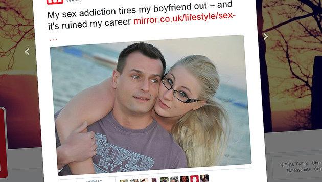 Sie will zehnmal Sex am Tag: Job und Freunde weg (Bild: Daily Mirror)