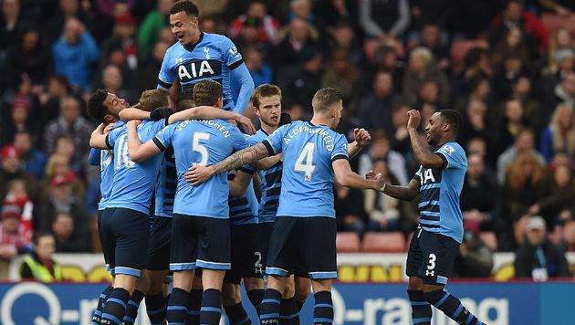 Tottenham rückt Leicester mit 4:0 bei Stoke näher! (Bild: APA/AFP/PAUL ELLIS)