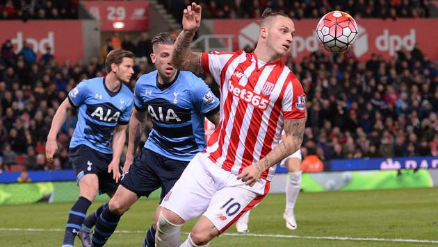 Auch Marko Arnautovic konnte Stoke gegen Tottenham nicht zum Sieg verhelfen! (Bild: APA/AFP/OLI SCARFF)