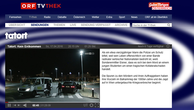 Private laufen gegen YouTube-Pläne des ORF Sturm (Bild: tvthek.orf.at)