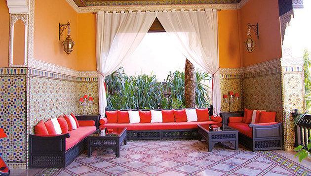 Das Innere eines Hotels in Marrakesch (Bild: André Heller)