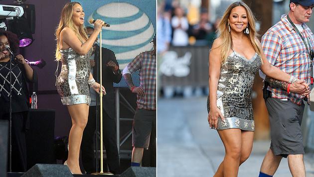 Im Mai 2015 hatte Mariah Carey noch deutlich mehr Speck auf ihren Hüften. (Bild: Viennareport)