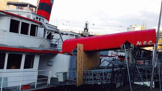 """""""Einst Party-Spot, jetzt versandeltes Schiffswrack (Bild: City4U)"""""""