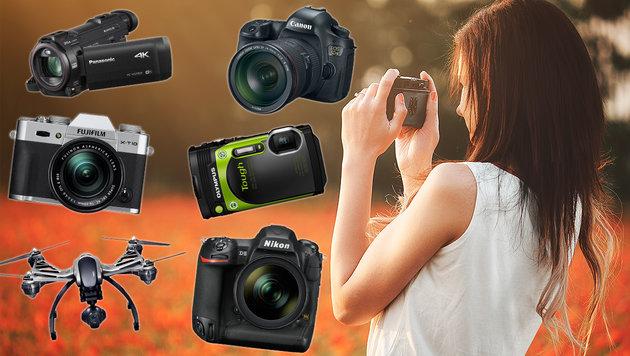 Die besten Kameras für Einsteiger und Profis (Bild: Hersteller, thinkstockphotos.de)