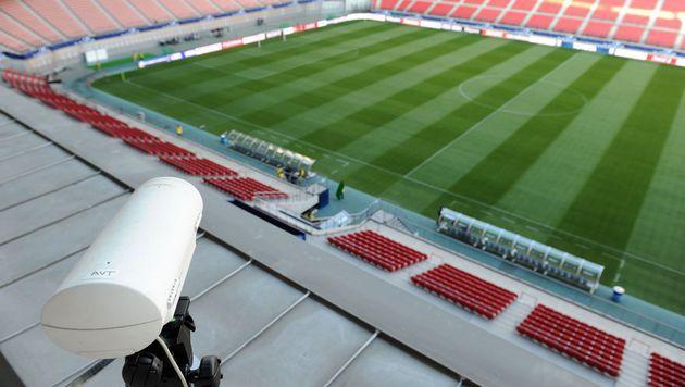 Hawk Eye kommt bei der EURO 2016 zum Einsatz (Bild: AFP)