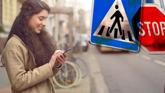 Kommt jetzt auch Handy-Verbot für Fußgeher? (Bild: thinkstockphotos.de)