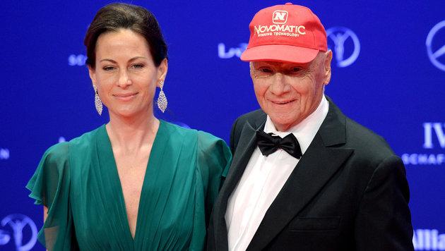 Niki Lauda (rechts) mit seiner Frau Birgit (Bild: APA/dpa/Rainer Jensen)