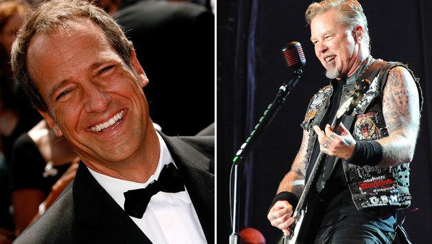 TV-Moderator erkennt Metallica-Chef Hetfield nicht (Bild: Tasso Marcelo/AFP, Paul Buck/EPA)