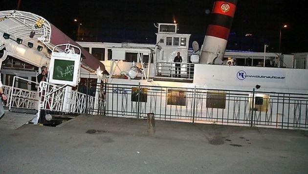 """""""Einst Party-Spot, jetzt versandeltes Schiffswrack (Bild: Virtualnights.at)"""""""