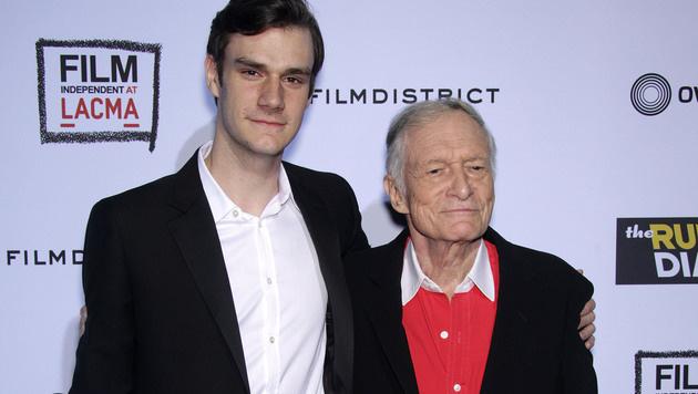 Hugh Hefner und Sohn Marston (Bild: Viennareport)