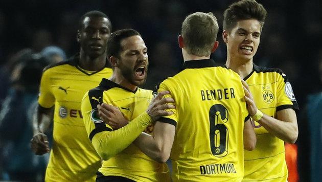 Dortmund zieht mit 3:0 bei Hertha in Cupfinale ein (Bild: APA/AFP/ODD ANDERSEN)