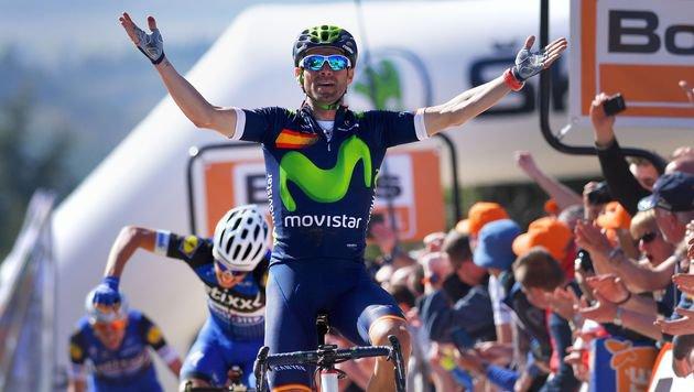 Hattrick für Valverde bei Rad-Hit Fleche Wallonne (Bild: APA/AFP/Belga/DAVID STOCKMAN)