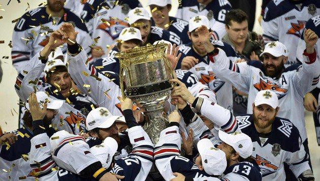 Metallurg Magnitogorsk erobert KHL-Titel zurück (Bild: APA/AFP/ALEXANDER NEMENOV)