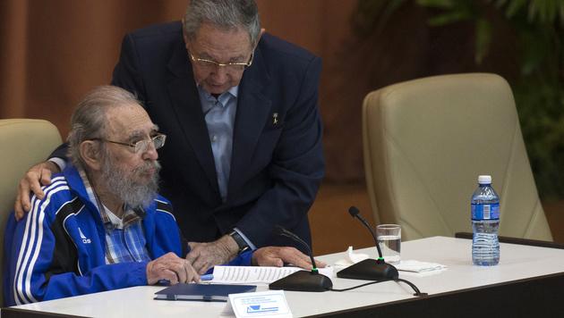 """Wehmütiger Abschied des greisen """"Maximo Lider"""" (Bild: Associated Press)"""