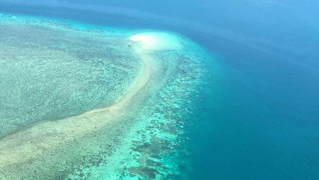 Auf Luftaufnahmen erkennt man das Ausmaß der Bleiche noch viel besser. (Bild: APA/AFP)
