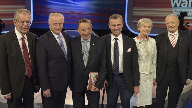 ORF-Elefantenrunde: Viele Sticheleien, kein Sieger (Bild: APA/HANS PUNZ)