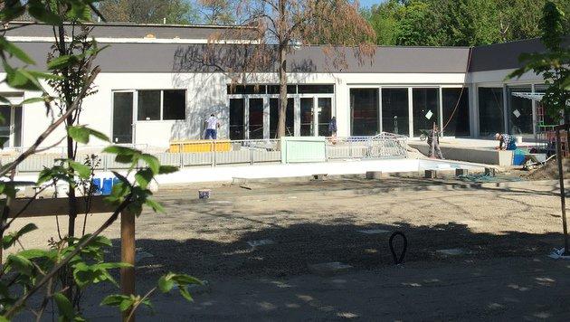 """""""Pratersauna: Hält 29. April als Eröffnungstermin? (Bild: zet)"""""""