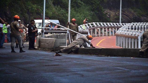 Rios neue Rad-Attraktion eingestürzt: Zwei Tote (Bild: AFP or licensors)