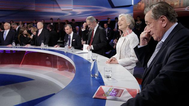 ORF-Elefantenrunde: Viele Sticheleien, kein Sieger (Bild: APA/GEORG HOCHMUTH)