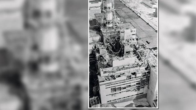 Der zerstörte Reaktor (Bild: Christoph Matzl)