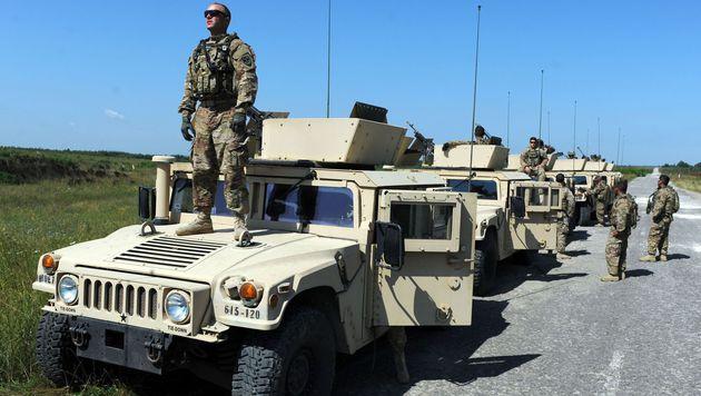 Humvees der US-Armee im Einsatz (Bild: AFP)