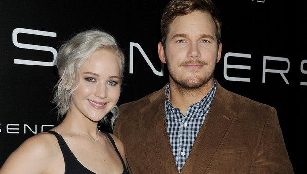 Jennifer Lawrence und Chris Pratt (Bild: Viennareport)