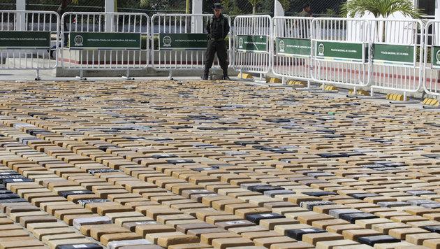 Der Drogenhandel spielt in Kolumbien eine bedeutende Rolle. (Bild: AP)