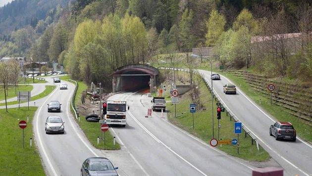 Während der Bauarbeiten war der Tunnel vier Tage lang für den Verkehr gesperrt. (Bild: Niki Faistauer)