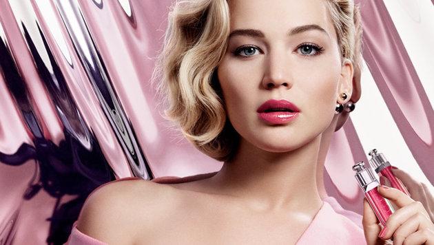 """Jennifer Lawrence erotisch am Werbefoto für """"Dior Addict"""" (Bild: Viennareport)"""