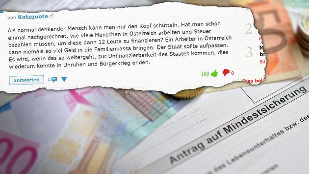 """Leser empört: """"Sozialsystem wird an Wand gefahren"""" (Bild: APA/Barbara Gindl, krone.at)"""