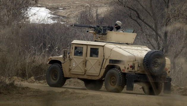 Ein US-Humvee bei einer gemeinsamen Militärübung in Südkorea (Bild: APA/AFP/YONHAP)
