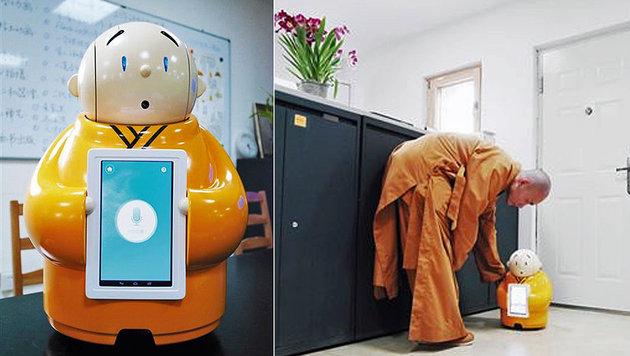 Seelenloser Robo-Mönch verbreitet den Buddhismus (Bild: twitter.com/XHNews)