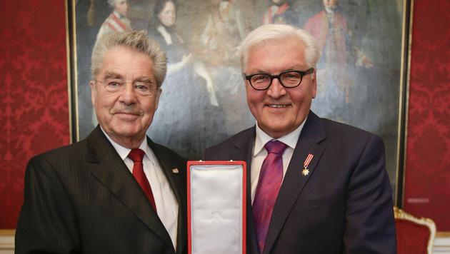 Heinz Fischer und Frank-Walter Steinmeier (Bild: APA/BUNDESHEER/PETER LECHNER)