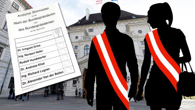 """Das """"Krone""""-Abc zum Kampf um die Hofburg (Bild: APA/GEORG HOCHMUTH, APA/HELMUT FOHRINGER, thinkstockphotos.de)"""