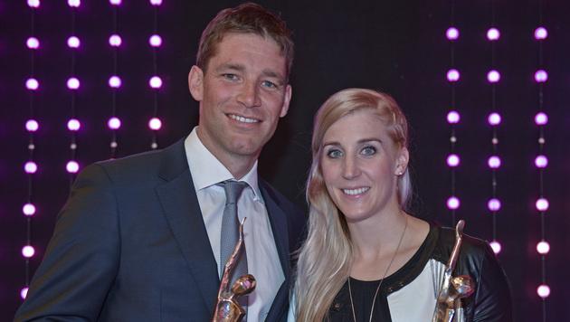 Bravo! Eva-Maria Brem und Benjamin Raich sind als Tirols Sportler des Jahres ausgezeichnet worden. (Bild: GEPA)