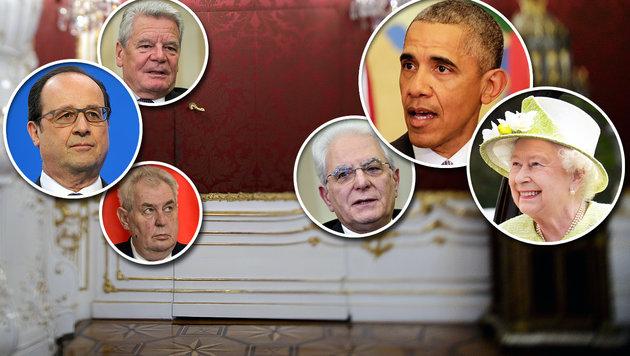 Welche Staatsoberhäupter tatsächlich mächtig sind (Bild: APA, APA/AFP, AP)