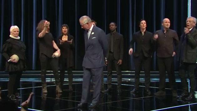 Staraufgebot für Shakespeare: Judi Dench, Benedict Cumberbatch, Sir Ian McKellen, Prince Charles (Bild: YouTube.com/BBC)