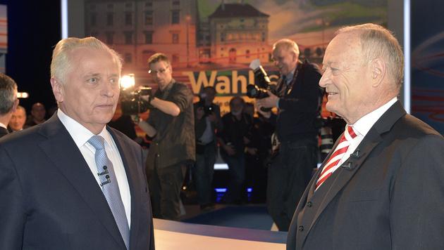 Rudolf Hundstorfer und Andreas Khol vor der Wahl (Bild: APA/HANS PUNZ)