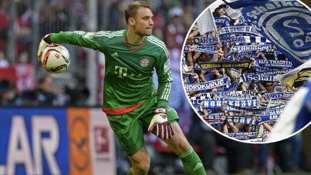 Bayern-Goalie Neuer kritisiert Schalker Fans (Bild: GEPA)