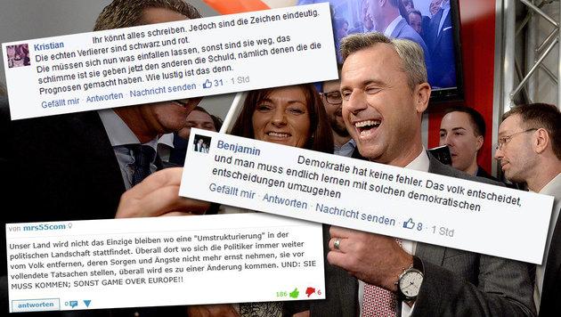 """""""Krone""""-Leser: """"Österreich braucht klares Signal"""" (Bild: APA/ROBERT JAEGER, krone.at, facebook.com)"""