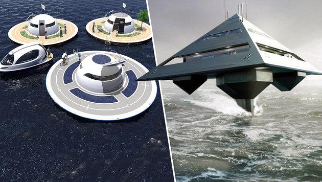"""Meeres-""""UFOs"""": So sieht die Jacht der Zukunft aus (Bild: Jet Capsule, Eyelevel Creative)"""