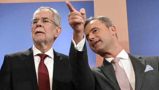 Alexander Van der Bellen und Norbert Hofer (Bild: APA/HELMUT FOHRINGER)