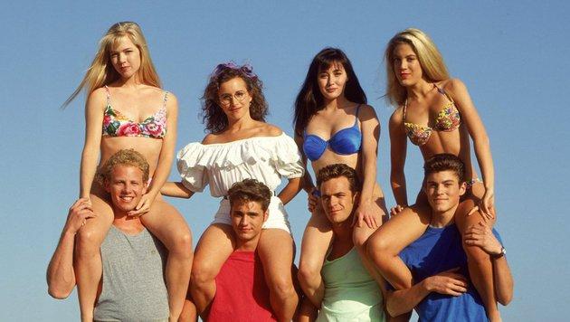 Die Damen im Clinch: Jennie Garth, Gabrielle Carteris, Shannen Doherty und Tori Spelling (Bild: Paramount)