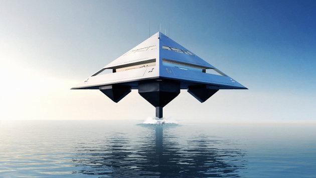 """Meeres-""""UFOs"""": So sieht die Jacht der Zukunft aus (Bild: Eyelevel Creative)"""